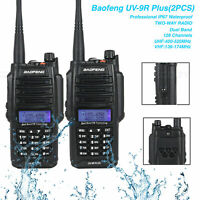 2PCS UV-9R Plus 15W BAOFENG Walkie Talkie VHF/UHF Dual-Band IP67 Two-way Radio
