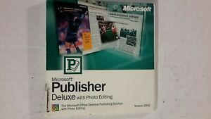 Publisher Deluxe w/ Photo Editing & Office XP Publisher Media Content w/key