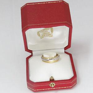 NYJEWEL Cartier 24k w Platinum Wedding Anniversary Band Ring