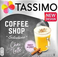 4 x Tassimo Chai Latte Large T Discs Pods Sold Loose - 4 T Discs 4 Large Drinks