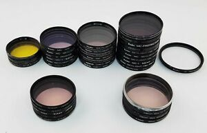 Used Bulk Lot 36x 48,52,55,58mm Nikon Canon Camera UV Filter Lens Protector BL62