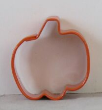 "Wilton NEW Mini ORANGE PUMPKIN Metal COOKIE Pie PASTRY Crust CUTTER 1 5/8"" x1.5"