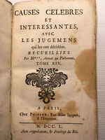 1750* CAUSES CELEBRES JEANNE D'ARC MARIAGE FEMME ADULTERE FILLE OUTRAGEE DROIT
