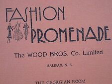 Fashion Promenade Woods Bros Junior Service League Models 1933 Program Halifax