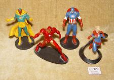 Lot de 4x MARVEL DISNEY STORE statuette figures Iron Man Captain America Vision