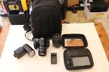 Canon EOS Rebel T3i 18.0MP Digital SLR Camera - Black With Accessories ~