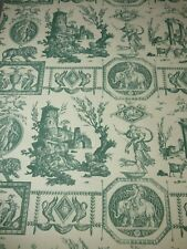 Lee Jofa DIANE CHASSERESSE Antique Toile Wallpaper GREEN Paper Craft Project BTY