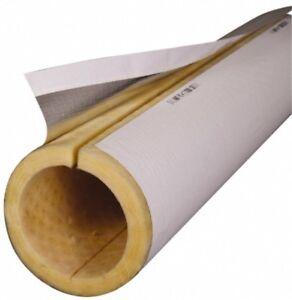 "Made in USA 1"" Thick x 6"" Pipe x 3' Long, Fiberglass Rigid Pipe Insulation 850°F"