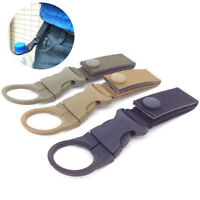 Outdoor Tactical Nylon Webbing Buckle Hook Water Bottle Holder Clip Carabiner