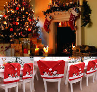 US Santa Clause Red Hat Chair Covers Christmas Decor Dinner Chair Xmas Cap Sets