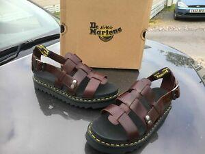 Dr.Martens Terry brown charro brando leather fisherman sandals UK 11 EU 46