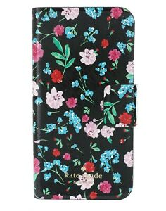 Kate Spade New York Leather Floral Black Greenhouse iPhone X/XS Folio Case