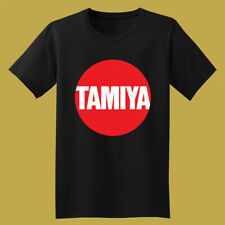 Tamiya Japan Flag Logo Classic 80's 90's Toys Men's Black T-Shirt Size S to 3XL