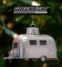 1:64 GreenLight *SILVER* Airstream 16' Bambi Camper *2016 HOLIDAY ORNAMEMTS* NIP