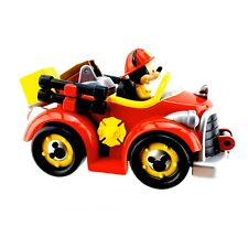 Disney Store Mickey Mouse Small Fire Engine Pull Back Toys Car Vgc