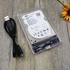 "2.5"" USB 3.0 SATA HDD Hard Disk Drive External Enclosure Full Transparent Case"