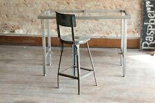 Vintage industrial desk metal drafting table legs steampunk workbench counter