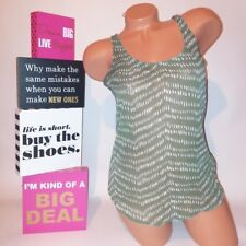 Old Navy Womens Tank Top XS Green White Sheer Sleeveless