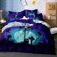 3D Nightmare Before Christmas Jack Ghost Duvet Cover Bedding Set Quilt Cover Set