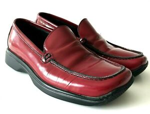 Coach Womens Loafer 6 B Rita Ruby Red Leather Wedge Slip On Flats Shoes Italy