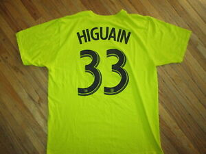 FEDERICO HIGUAIN COLUMBUS CREW 33 JERSEY T SHIRT Soccer MLS Adidas Go To Tee LG