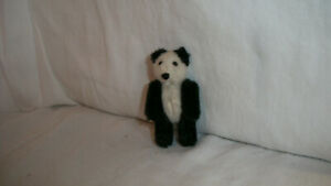 "Vintage Miniature Jointed Schuco Panda Teddy Bear 2.75"" Tall"