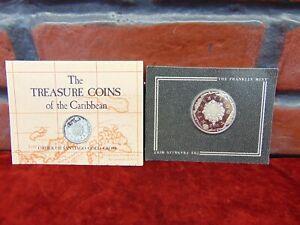 UNC 1988 BRITISH VIRGIN ISLANDS $20 SILVER PROOF *Santiago Gold Cross w/Brochure