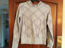 H&M Jacket Size 10 - Ladies Grey Aztec Purple Sport Gym Fashion Stretch Hoodie