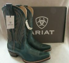 ARIAT 10029676 Tailgate Peacock Blue Full Leather Boots Shoes US 9 M EUR 40 NWB