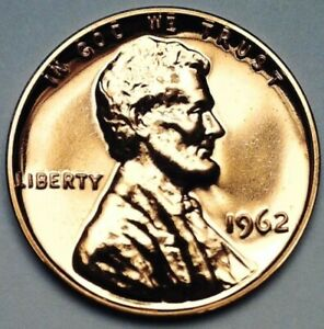 1962 Lincoln Memorial Reverse 1 Cent Coin Uncirculated Proof PR Penny UNC