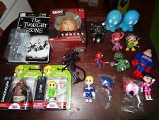 Action Figure Toy LOT Zelda Link Marvel Spiderman Alien Rodman Batman Robotech