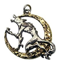"CNO8 Children Of The Night, Song of the Lycan Moon Wolf Pewter Pendant 18"" chain"