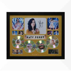 Katy Perry Signed & Framed Memorabilia - 4 CD - Gold - Limited Edition