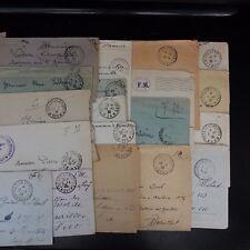 TRESOR Y POST 1917/1923 LOTE DE 19 CARTAS CUBRIR EN FRANQUICIA