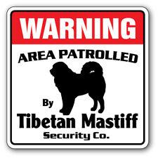 Tibetan Mastiff Security Decal Area Patrolled by dog pet owner walker kennel vet