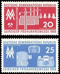 EBS East Germany DDR 1959 - Leipzig Spring Fair - Michel 678-679 MNH**