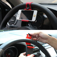Portable Car Steering Wheel Mobile Phone Mount Cradle GPS Support Stand Holder