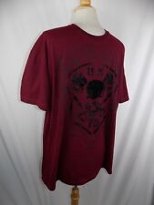 Helex Outlaws Mens T Tee Shirt Maroon Graphic XL
