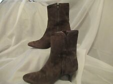 NEELY MACK Vero Cuoio Brown Suede & Leather Boots - 37.5 (7)