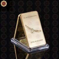 WR 1 Oz Fine Gold Bullion Bar Iron Eagle Gold Collectable Coin Gift for Husband