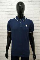 Polo Maglia Uomo CARLSBERG Taglia XL Manica Corta Shirt Man Cotone Blu Scuro