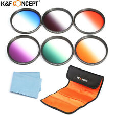 52MM 6Pcs Graduated Color Filter Kit for Nikon D7300 D5200 D3200 D3100 18-55mm