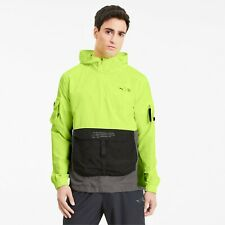 Puma x First Mile Utility Windcell Men Running Hooded Jacket VOLT RARE SIZE XL