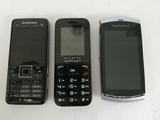 3 x SONY ERICSSON & ALCATEL ONE TOUCH MOBILE Phones, SPARES / REPAIR