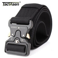TACVASEN Black Tactical Heavy Duty Men's Military Belt Utility Nylon Army Belts