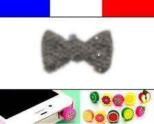 Cache anti-poussière jack universel iphone capuchon bouchon Noeud Chromé
