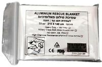 Grizzly Aluminum Rescue Silver Blanket Mylar Heat Emergency Camping Warmer IFAK