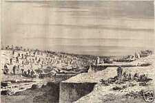 Antique print excavations Suez canal Egypt Egypte 1865