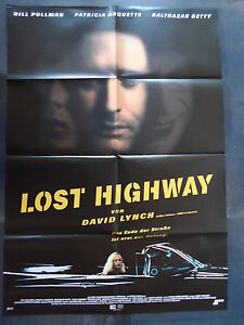 LOST HIGHWAY - Filmplakat A1 - David Lynch - Bill Pullman, Patricia Arquette