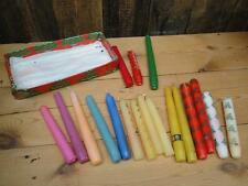 Vintage Traditional Christmas Candles Job Lot Of 18 Candles Some Nell Gwynn Dyed